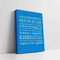Grandparents House Rules Canvas v4