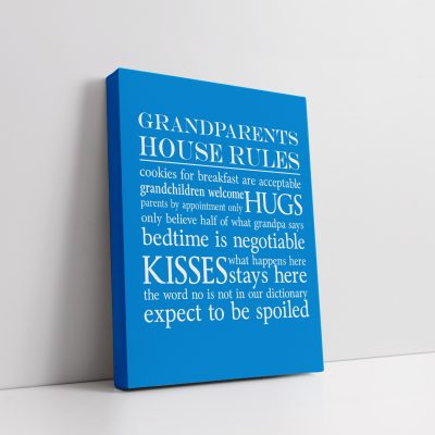 Grandparents House Rules Canvas v4