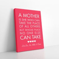 A Mother Personalised Canvas