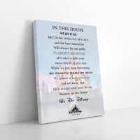 Disney House Rules Canvas