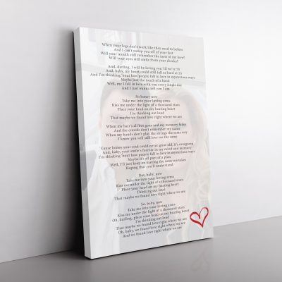 Personalised Song Lyrics