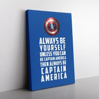 Be Captain America Canvas