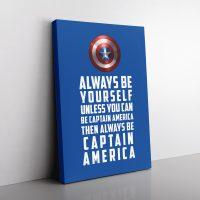 Be Captain America Canvas