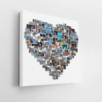 Heart Shape Collage Canvas