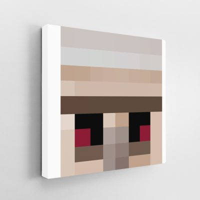 Minecraft Golem Face Canvas