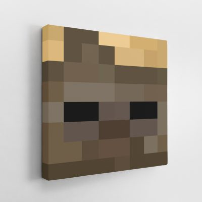 Minecraft Husk Face Canvas