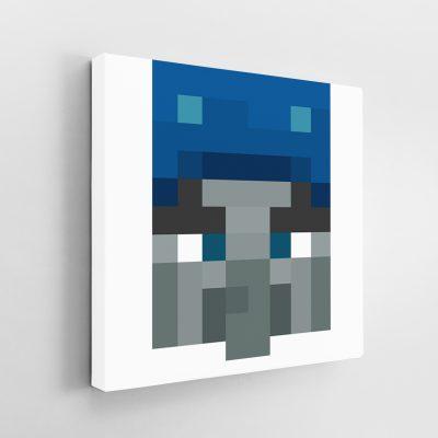 Minecraft Illusioner Face Canvas