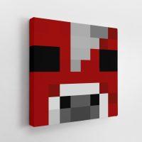 Minecraft Mooshroom Face Canvas