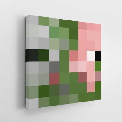 Minecraft Zombie Pigman Canvas