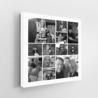 12 Image Square Jigsaw Collage Canvas