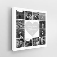 12 Image Square Collage Canvas