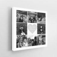 9 Image Square Collage Canvas inc Message