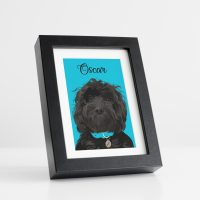 Pet Portrait Black Frame
