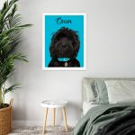 Pet Portrait White Frame