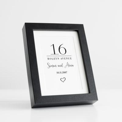 House Sign Black Frame