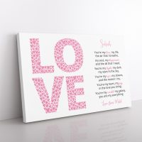 Love Poem Canvas