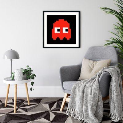 Pacman Blinky Black Frame