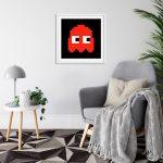 Pacman Blinky White Frame