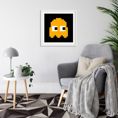 Pacman Clyde White Frame