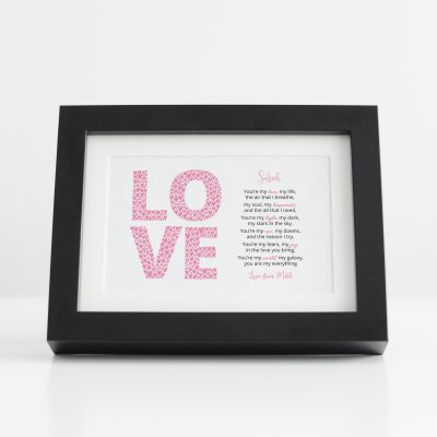 Love Poem Black Frame