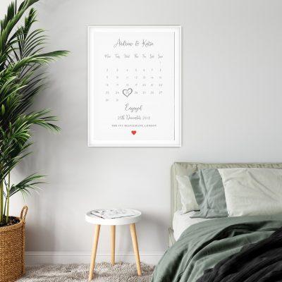 Special Event Calendar White Frame