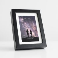 Star Map Black Frame