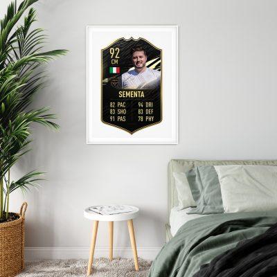 FIFA Card #1 White Frame