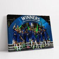 Chelsea Champions League Winners 20/21 Canvas 3D